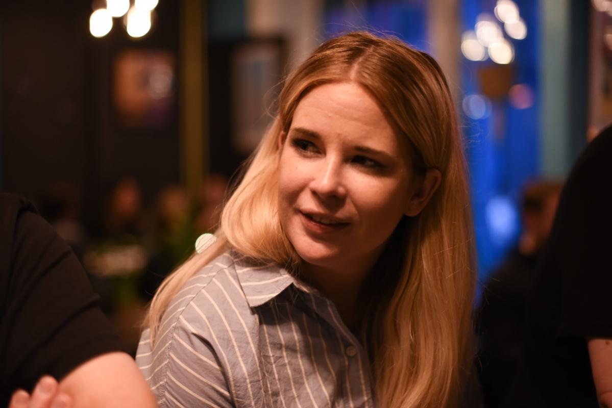 Andrine Johansson tittade in en stund för att fira på Brewers Beer Bar.